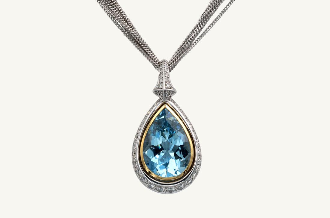 Sky Blue - Aquamarine & Diamonds