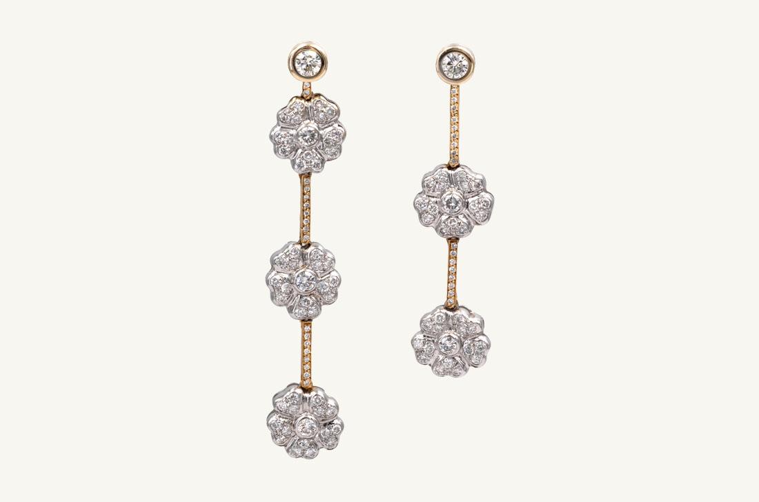 Daisy - Two Tone Gold & Diamonds fleur