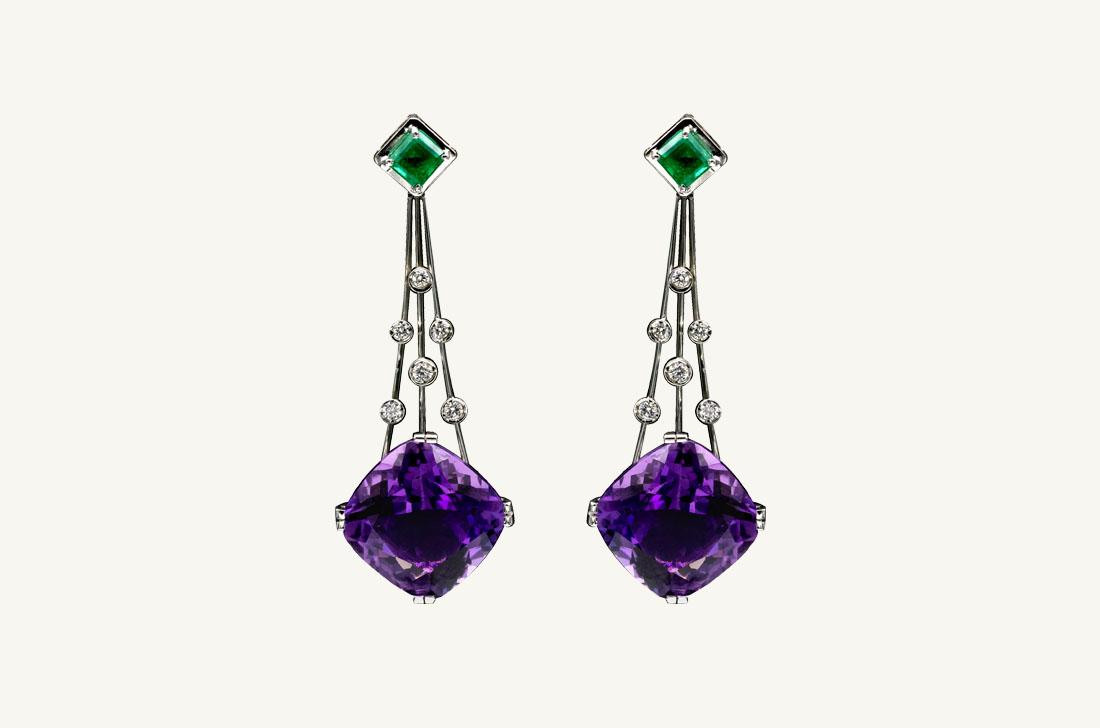 Lyla -Emeralds,Amethysts & diamonds