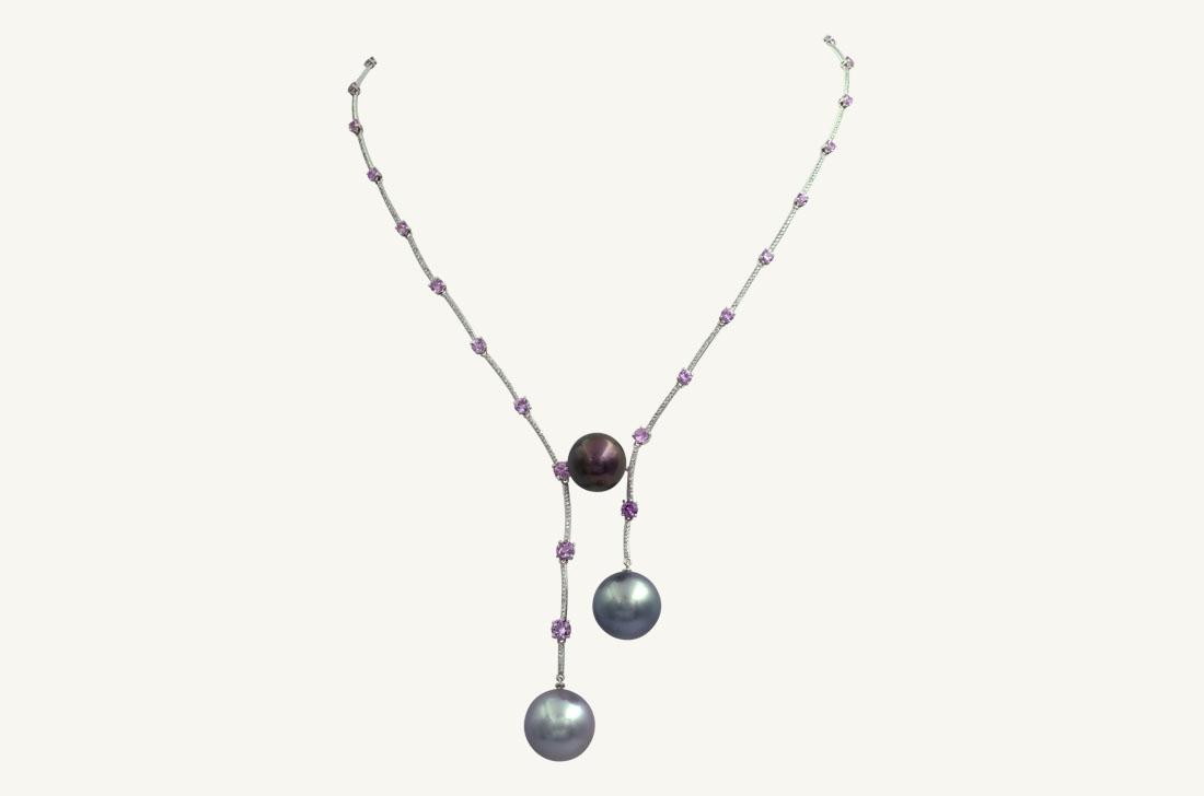 Joy- Pearls Pink Sapphires & Diamonds